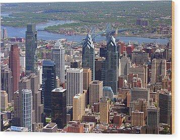 Philadelphia Skyscrapers Wood Print by Duncan Pearson