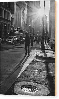 Wood Print featuring the photograph Philadelphia Street Photography - 0943 by David Sutton