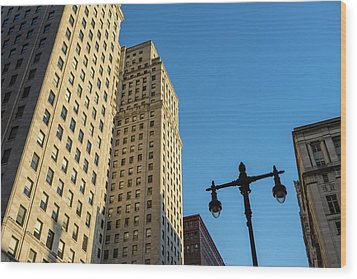 Wood Print featuring the photograph Philadelphia Urban Landscape - 0948 by David Sutton