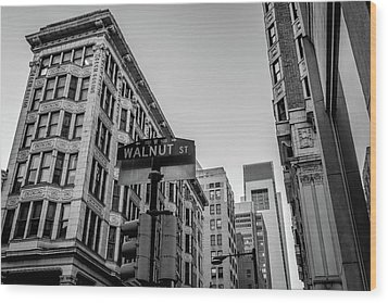 Philadelphia Urban Landscape - 0980 Wood Print by David Sutton