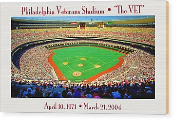 Philadelphia Veterans Stadium The Vet Wood Print by A Gurmankin