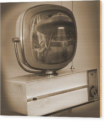 Philco Television  Wood Print by Mike McGlothlen