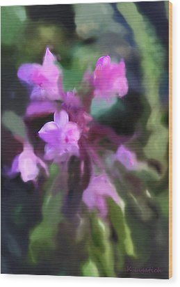 Philippine Orchid Abstact Wood Print by Kerri Ligatich
