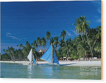 Philippines, Boracay Isla Wood Print by Gloria & Richard Maschmeyer - Printscapes