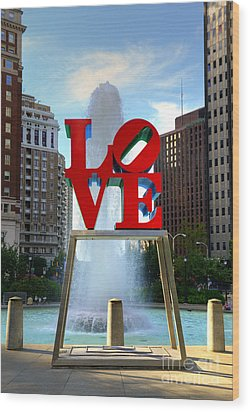 Philly Love Wood Print by Paul Ward