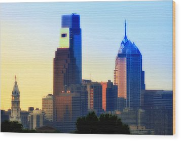 Philly Morning Wood Print by Bill Cannon