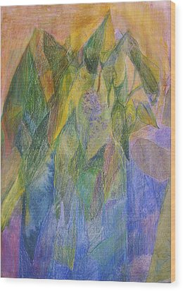 Philodendron Phun Wood Print by Jan Cline-Zimmerman