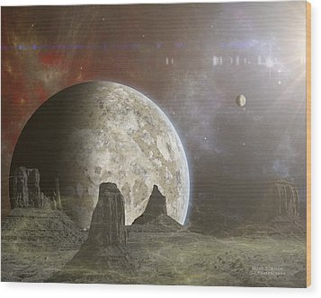 Phobos Wood Print by Mark Allen