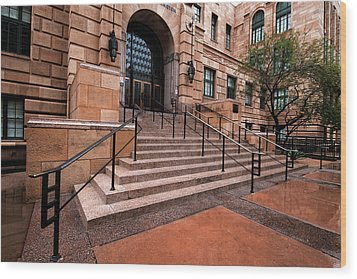 Wood Print featuring the photograph Phoenix Arizona Courthouse by Dave Dilli