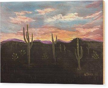 Phoenix Az Sunset Wood Print