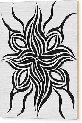 Phoenix  Wood Print by Beth Akerman