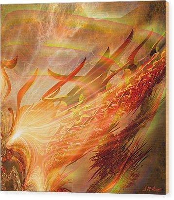 Phoenix Wood Print by Michael Durst