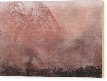 Phoenix Rising Wood Print by Christopher Gaston