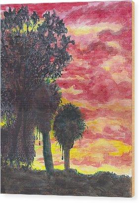 Phoenix Sunset Wood Print by Eric Samuelson