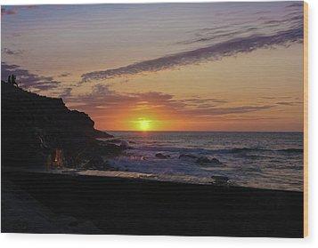 Photographer's Sunset Wood Print by Terri Waters