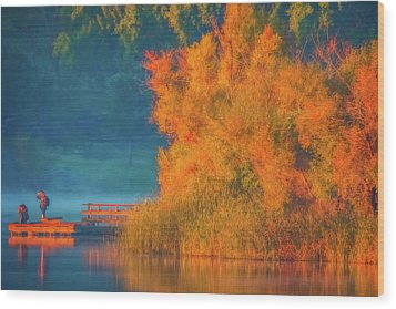 Wood Print featuring the photograph Photographing The Sunrise by Marc Crumpler