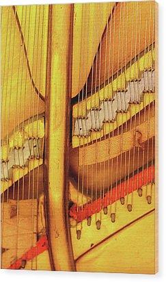 Piano 1 Wood Print by Rebecca Cozart