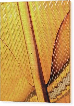 Piano 3 Wood Print by Rebecca Cozart