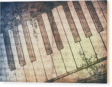 Piano Days Wood Print by Jutta Maria Pusl