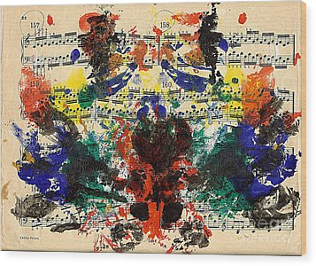 Piano Exercises 1 Wood Print by Jan Daniels