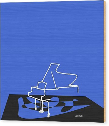 Piano In Blue Prints Available At Wood Print