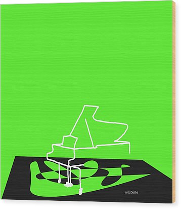 Piano In Green Wood Print by David Bridburg