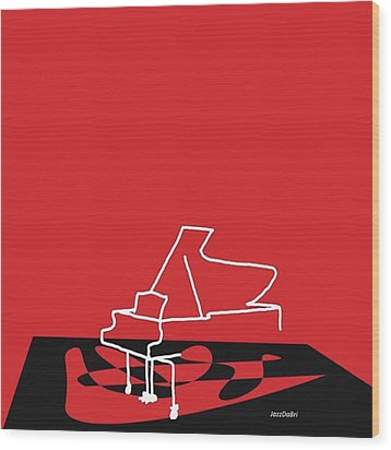 Piano In Red Prints Available At Wood Print