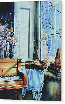 Piano In The Sun Wood Print by Hanne Lore Koehler