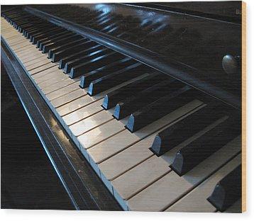 Piano Keys Wood Print by Anthony Rapp
