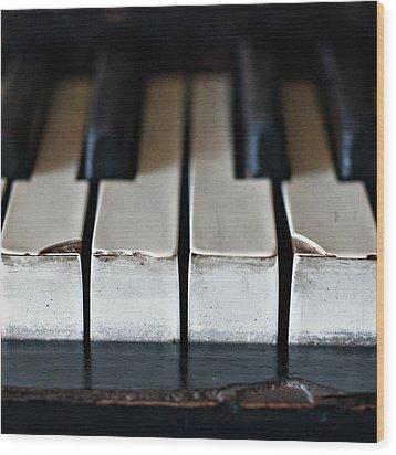Piano Keys Wood Print by Julie Rideout
