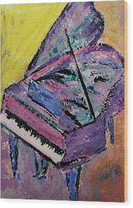 Piano Pink Wood Print by Anita Burgermeister