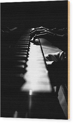 Piano Player Wood Print by Scott Sawyer