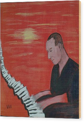 Piano Player Wood Print by Van Winslow