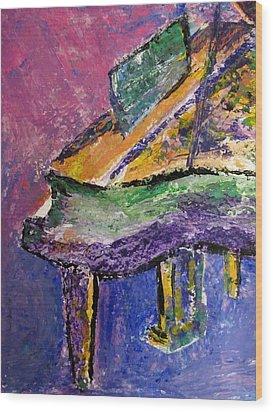 Piano Purple - Cropped Wood Print by Anita Burgermeister