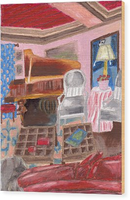 Piano Room Wood Print by Molly Williams