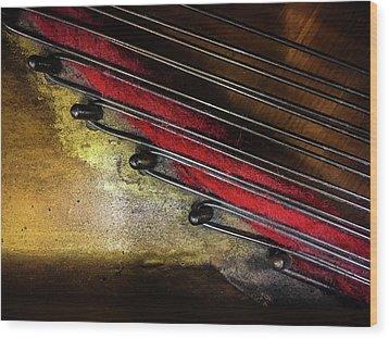 Piano Wire II Wood Print by Jae Mishra