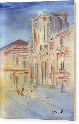 Piazza Duomo Wood Print by Rene Ury