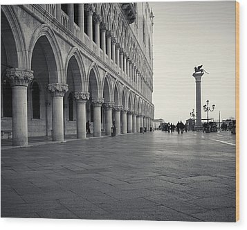 Wood Print featuring the photograph Piazza San Marco, Venice, Italy by Richard Goodrich