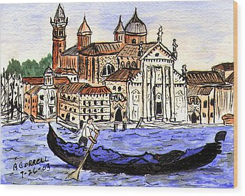 Piazzo San Marco Venice Italy Wood Print by Arlene  Wright-Correll