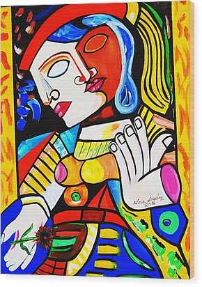 Picasso By Nora Turkish Man Wood Print