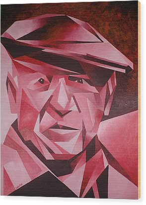 Picasso Portrait The Rose Period Wood Print by Tracey Harrington-Simpson