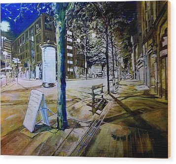 Piccadilly Gardens, Manchester Wood Print