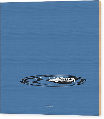 Piccolo In Blue Wood Print by David Bridburg