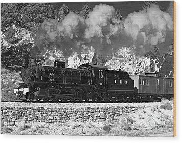 Wood Print featuring the photograph Pichi Richi Railwaytrain by Bill  Robinson