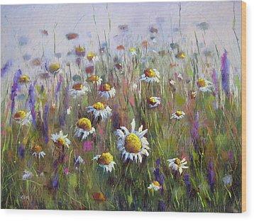 Pick Me A Bouquet Wood Print by Karen Margulis