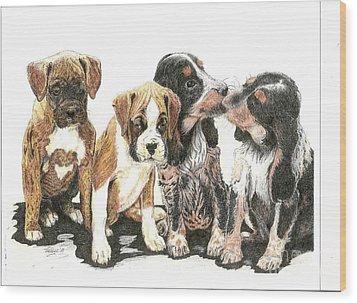 Pick Of The Litter Wood Print by Bill Hubbard