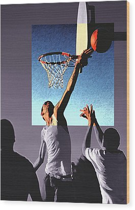 Pick Up Game Wood Print by Gerard Fritz