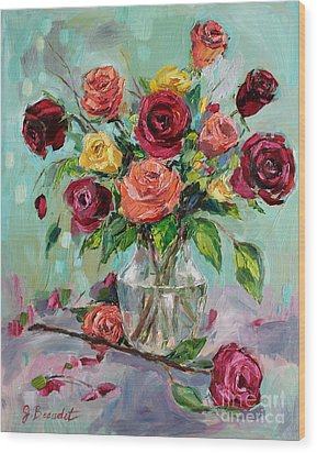 Wood Print featuring the painting Picked For You by Jennifer Beaudet
