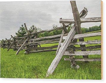 Picket Fence Wood Print