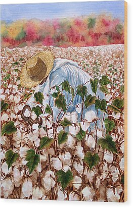 Picking Cotton Wood Print